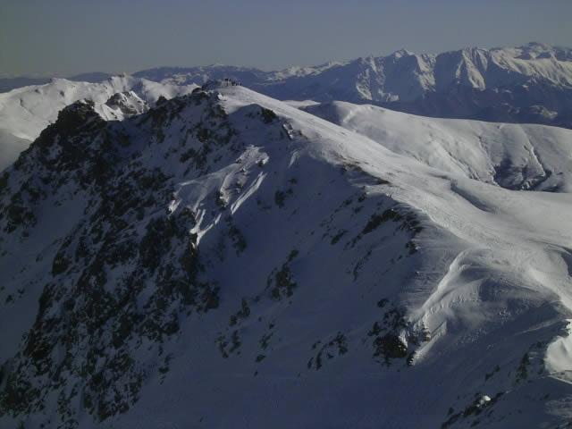 la cresta di salita al Viribianc vista dal Viridio