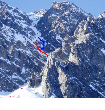 Il canale della cima Las Blancias