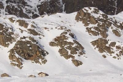 alpe del serrù ed il canale di discesa