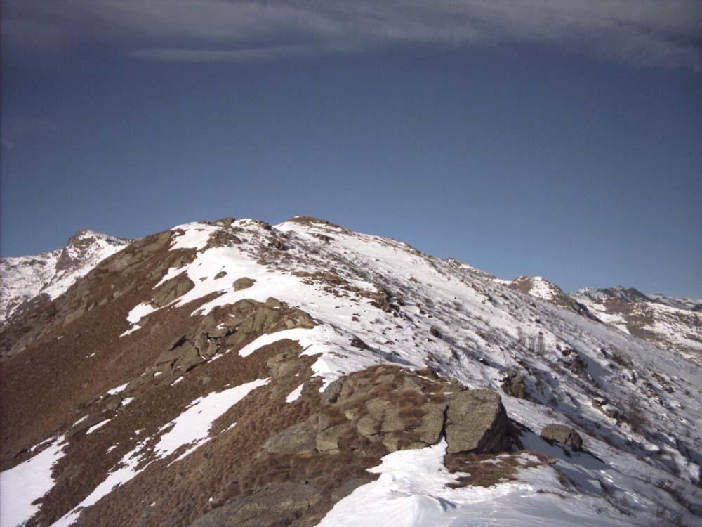 Cresta finale con tanta neve