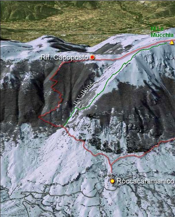 Mucchia (Monte le) da Roccacaramanico per la Costa del Sole 2012-04-11