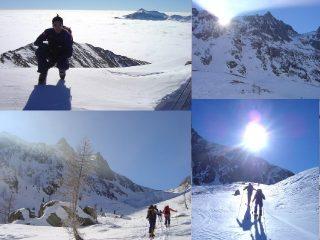 la neve è poca ma il tempo era proprio bello.....