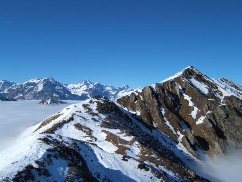 Panorama verso le Valli di Lanzo e la P.ta Grifone a destra
