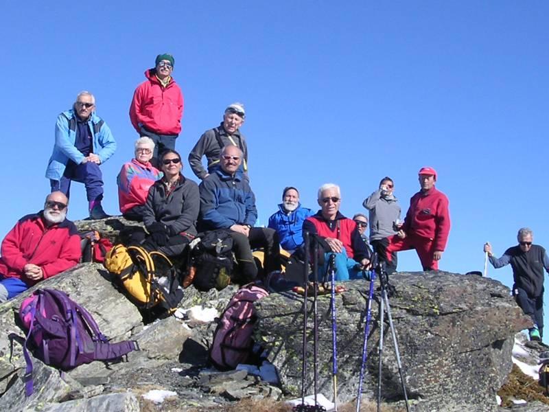 foto del gruppo in punta