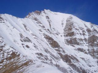 La parete vista dal Colle delle Tane in data 12/03/2005