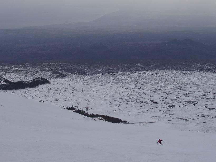 Etna, colata lavica 2750 m dal Rifugio Sapienza per la Valle del Bove 2005-02-22