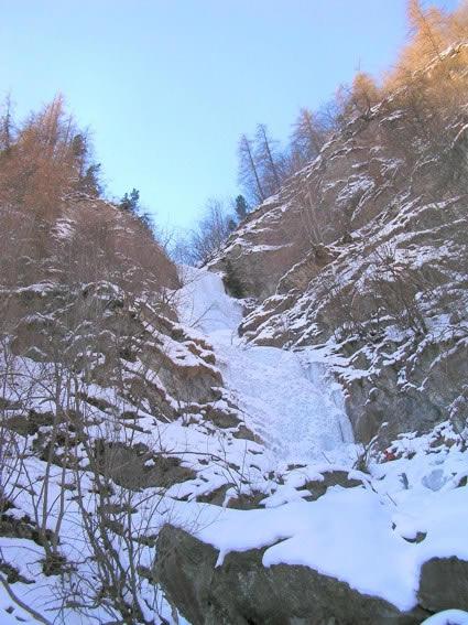 Il primo salto della cascata