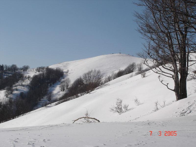 vista della cresta finale e della vetta dal colle