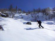 La neve di oggi salendo al Barant