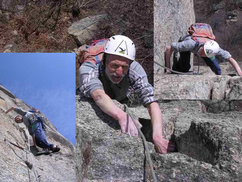 Vieux loup au départ! Sempre elegante sul granito nonostante l'avanzato stato di decomposizione...
