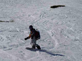 Mont Flassin - Andrea in azione