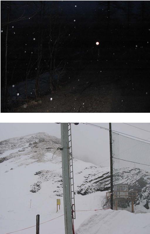 La partenza con la pioggia... e l'arrivo con la neve