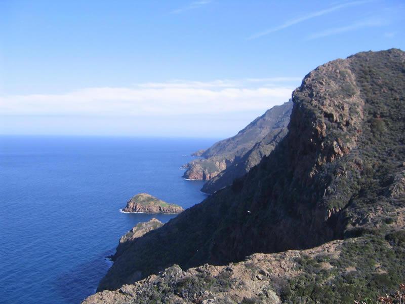 La costa occidentale vista dalla Punta del Trattoio