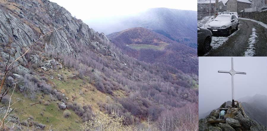 Parte bassa dell'itinerario,punta di Costafiorita, nevicata a Suppo