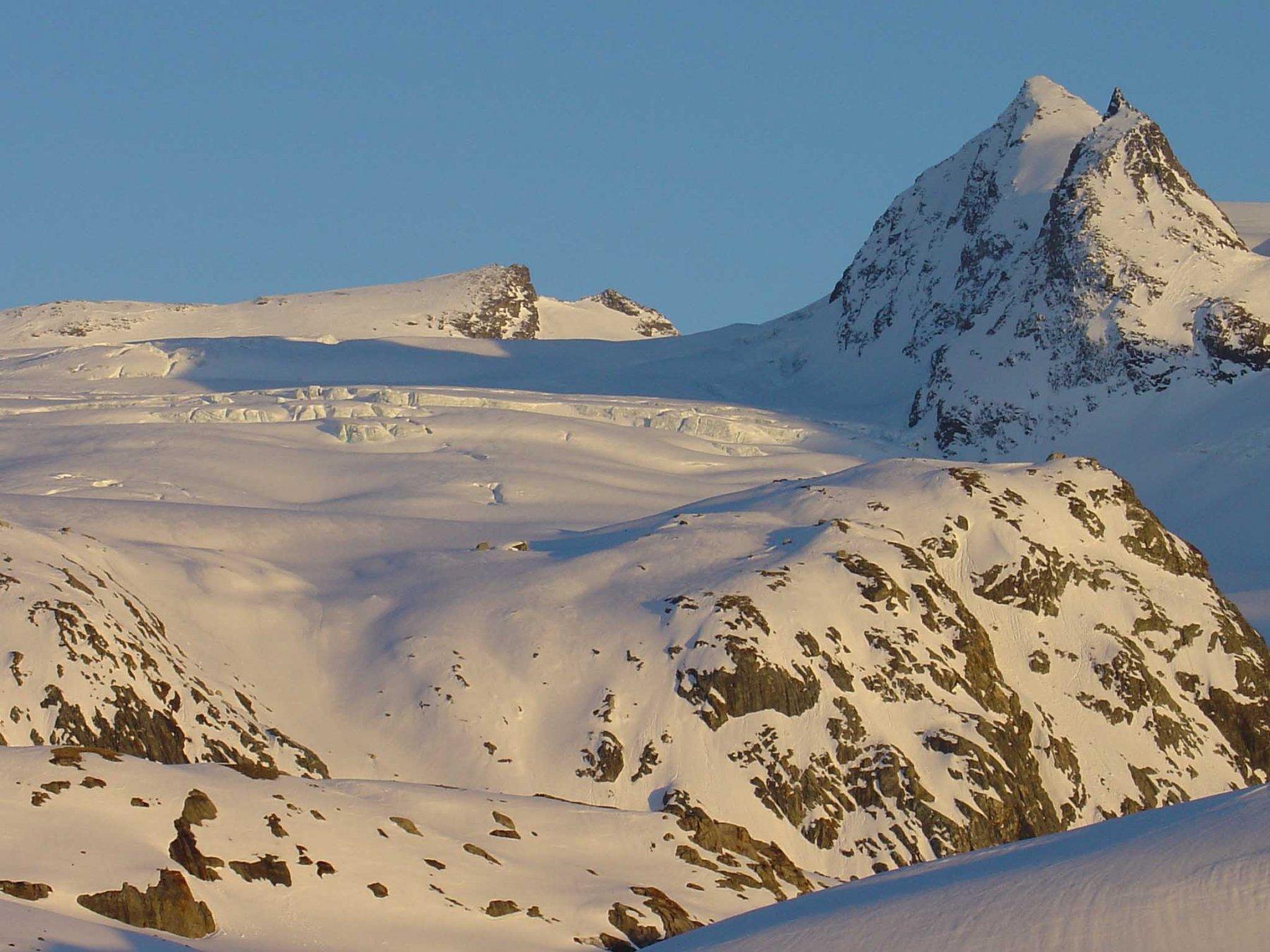 Ultimo sole sul ghiacciaio del Rutor