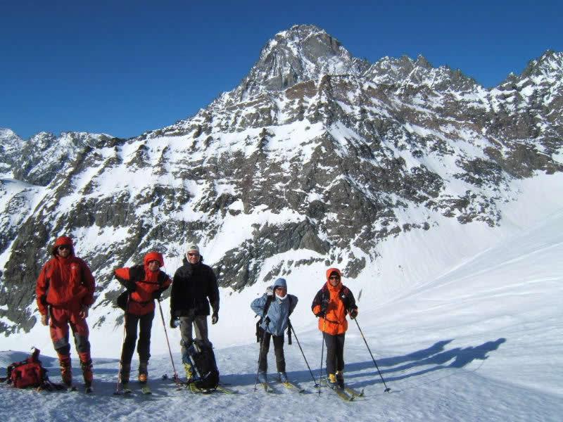 Salendo sul ghiacciaio della Ciamarella.