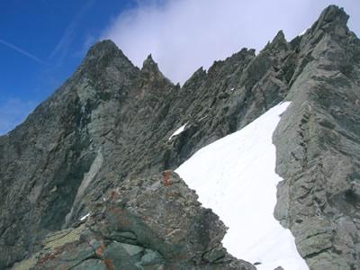 La cresta in discesa dal Cianai di Coi(colle),all'imbocco del canale di rientro.