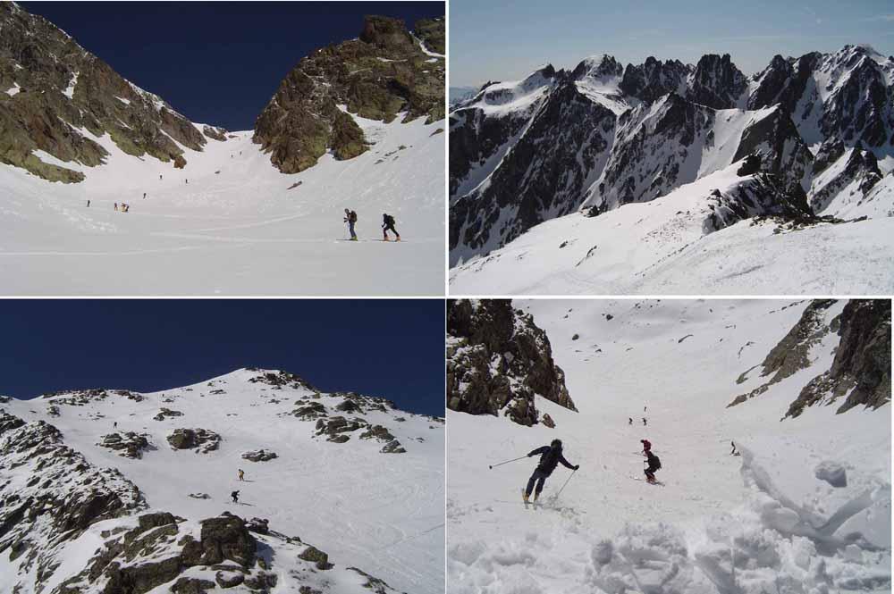 La salita al passo di vens, veduta sui quasi 3000 m del vallone di pontebernardo, in discesa dalla cima borgonio, dalla cornice del passo di vens.