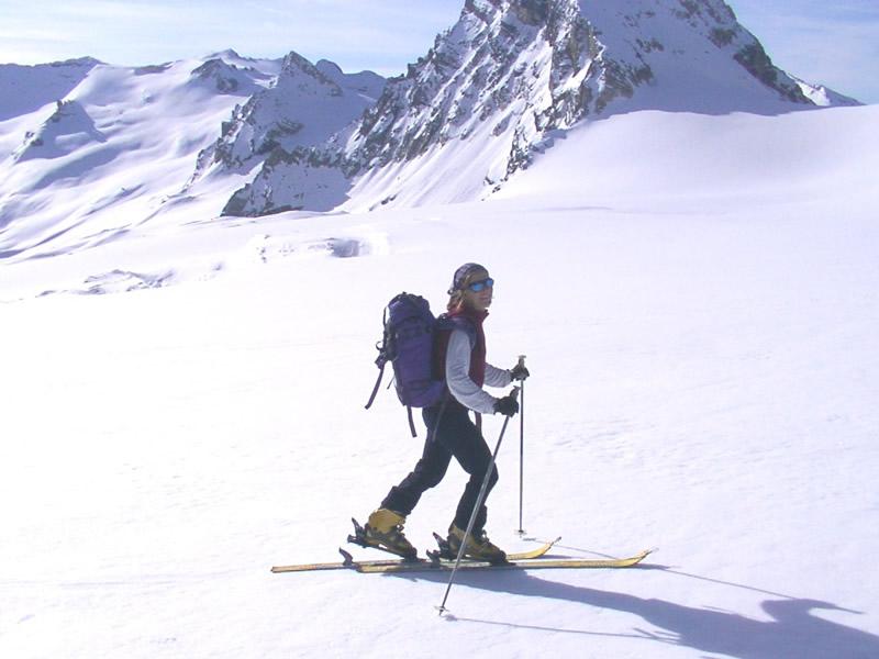 sul ghiacciaio di Tsanteleynaz a circa 3000 m