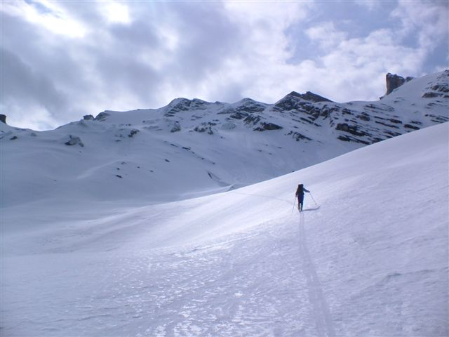 Salendo il ghiacciaio di Giasson