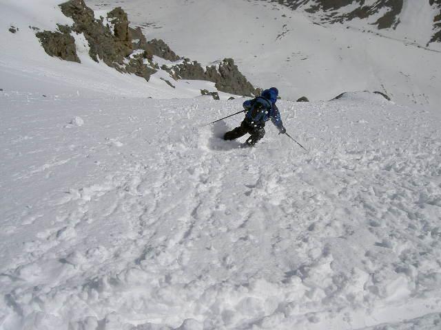 Pierre Menue o Aiguille de Scolette canale-versante ENE 2005-05-21