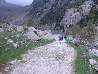 il primo tratto del vallone che porta al Refuge de Nice (21-5-2005)