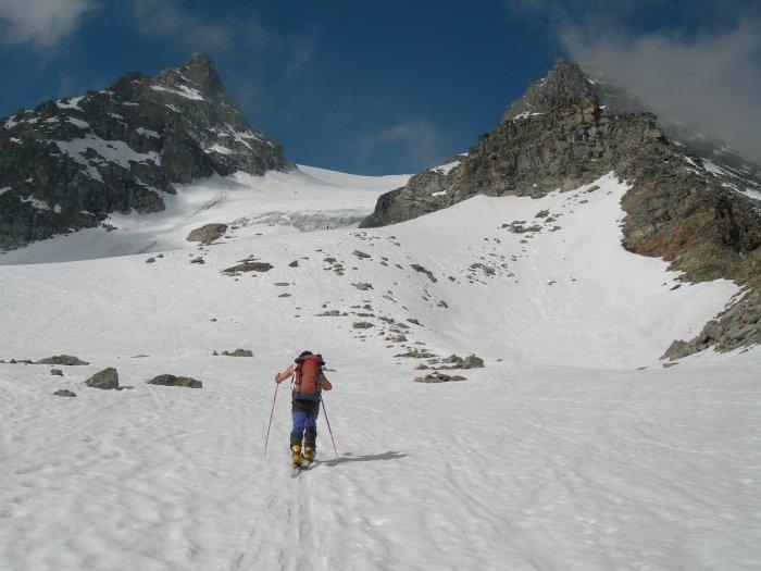 il ghiacciaio dopo il colletto