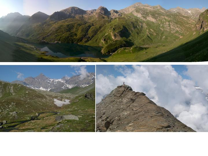 1-panoramica del lago 2-rocciamelone 3-la cima del sulè