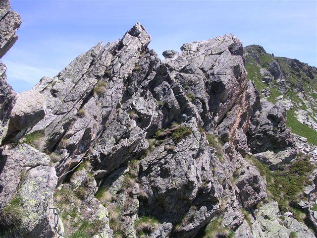 la cresta attrezzata verso il mars
