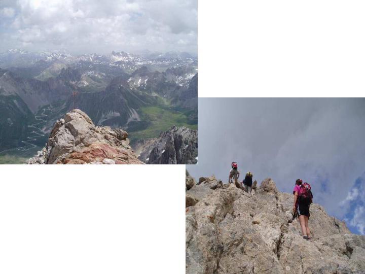 Panorama dalla vetta verso il Tabor e  roccette finali