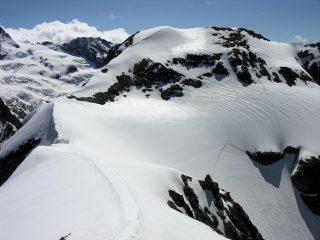 il Mont Brulè osservato dalla vetta della Punta Kurz (24-6-2007)
