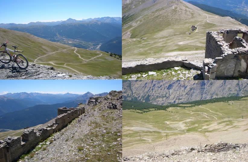 1-Dal Col Basset(Vin Vert), tornanti -2-Dal Fort Jafferau ultimo tratto -3-Dal Forte il Monviso -4-Dal Forte discesa sulle piste da sci