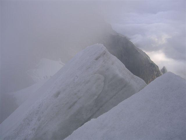 sulla biancograt avvolti nelle nebbie