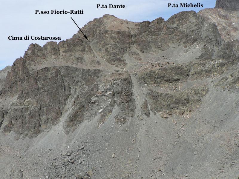 il versante di salita da p.ta Trento