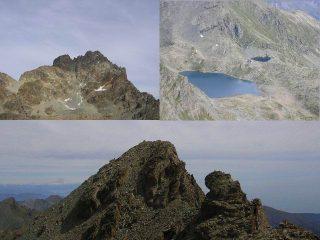alcuni panorami dalla punta e la punta Michelis vista salendo alla punta Dante