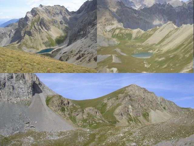 vista sui laghi e cima