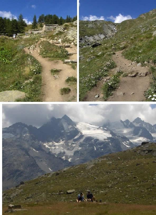 sentiero nuovo - vecchia mulattiera - nuvoloni sul Gran San Pietro