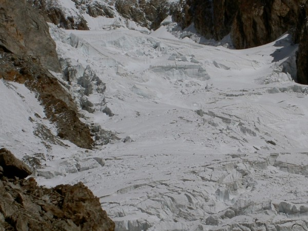 ghiacciaio del Dome visto dal rifugio Gonella