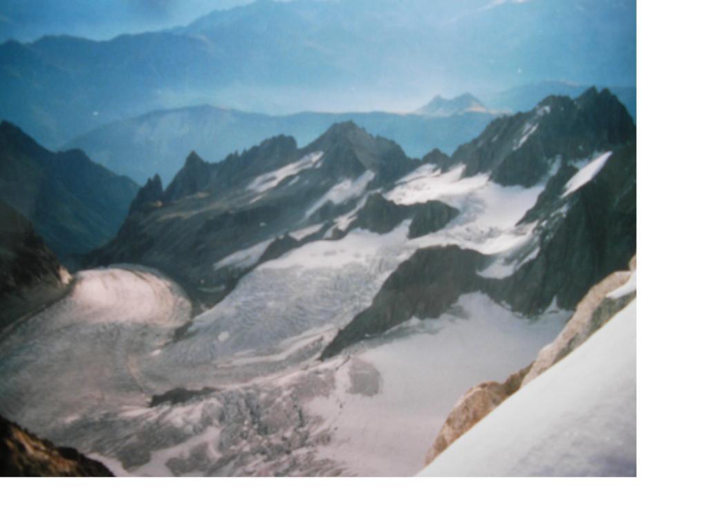 Il Glacier de Saleina dall'Aig d'Argentiere