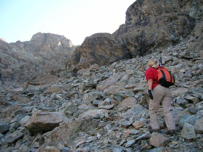 Le fascie di roccia sopra il lago Mercurin