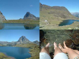L'onnipresente Pic du Midi d'Osseau e dell'acquazzurracquachiara ...
