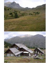 Refuge de Bufere e verdeggiante vallone che porta all'omonimo colle.