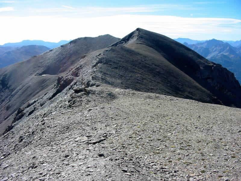 La Punta Nera dalla cima del Grand Argentiere.