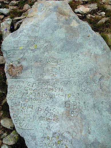 un graffito sopra il lago Mercurin
