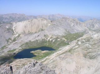 Il Lago superiore di Roburent visto dalla cima del Monte Scaletta