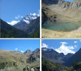 in senso orario 1)Tersiva 2)Lavodilec 3)alta val Fenis e passo omonimo 4)col Fussy tra M.Glacier e M.Delà