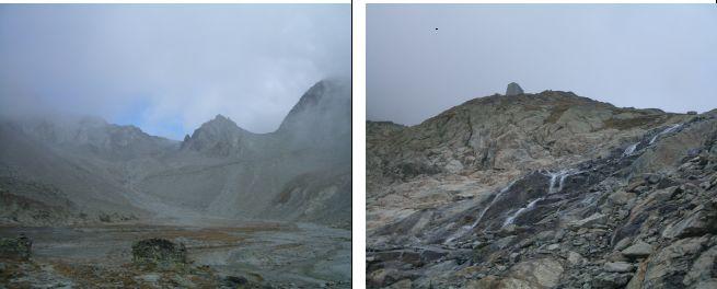 A sx: Plan de la Sabbla e il Col de Crete Seche (a sx del