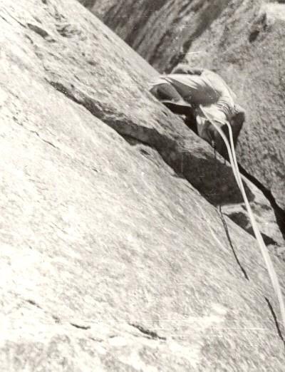 Nito Staich in apertura sul diedro di 5+ nel 1958