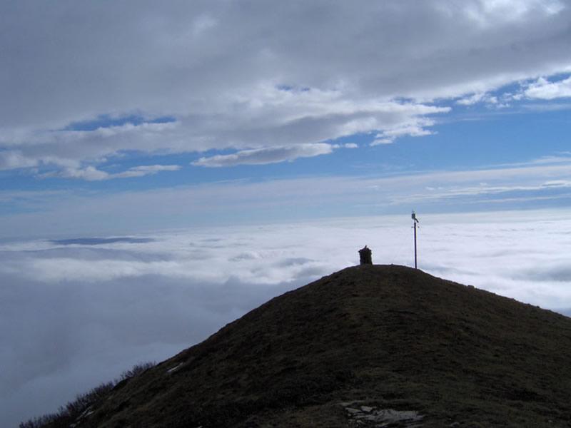Il mare di nuvole dalla vetta