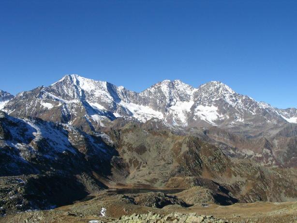 Weissmies, Lagginhorn e Fletschorn dalla cima